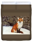 The Wait Red Fox Duvet Cover