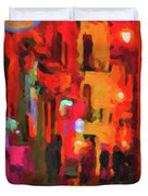 The Walkabouts - Spanish Red Moon Stroll Duvet Cover