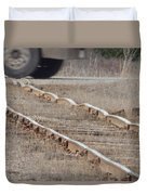 The Warped Railroad Duvet Cover