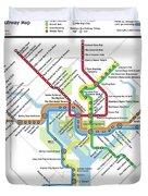 The Washington, D. C. Pubway Map Duvet Cover
