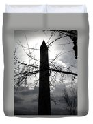 The Washington Monument - Black And White Duvet Cover