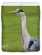 The Watchful Heron Duvet Cover
