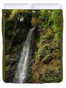The Water Falling At The Yoro Waterfall In Gifu, Japan, November Duvet Cover