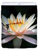 The Water Lily And The Dragonfly Duvet Cover by Sabrina L Ryan