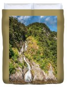 'the Water Of Life' Spring At Doubtful Sound Duvet Cover