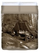 The Wawona Tree Mariposa Grove, Yosemite  Circa 1916 Duvet Cover