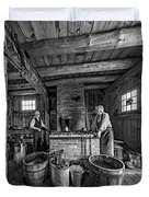 The Way We Were - The Blacksmith 2 Bw Duvet Cover