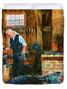 The Way We Were - The Blacksmith - Paint Duvet Cover