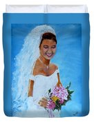 the wedding day of my daughter Daniela Duvet Cover