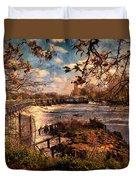 The Weir At Teddington Duvet Cover