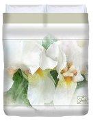 The Whispering Irises Duvet Cover