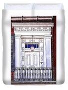 The White Balcony Duvet Cover