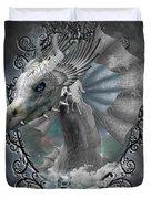 The White Dragon Duvet Cover