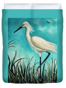 The White Egret Duvet Cover