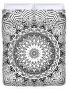 The White Kaleidoscope No. 2 Duvet Cover