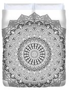 The White Mandala No. 3 Duvet Cover