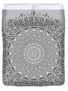 The White Mandala No. 4 Duvet Cover