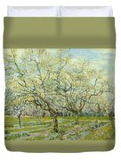 The White Orchard  Duvet Cover