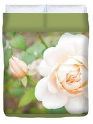The White Washed Rose Duvet Cover