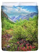 The Wildflowers Of Lundy Canyon Duvet Cover