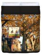 The William Pitt Shop Sign Duvet Cover