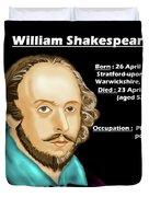 The William Shakespeare Duvet Cover