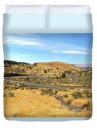 The Winding Road In Central Oregon Duvet Cover
