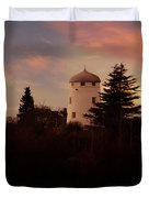 The Windmill At Sunset Duvet Cover