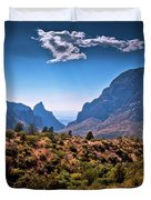 The Window In The Chisos Mountains Duvet Cover