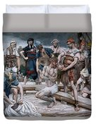 The Wine Mixed With Myrrh Duvet Cover by Tissot