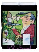 The Wine Steward - Poster Duvet Cover