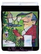 The Wine Steward - Poster Duvet Cover