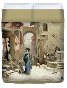 The Wolf Of Gubbio Duvet Cover by Luc Oliver Merson