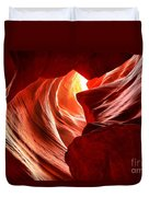 The Woman In The Canyon Duvet Cover