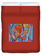 The Woman With The Red Soul Duvet Cover