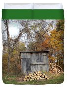 The Wood Shed Duvet Cover