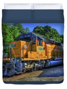 The Workhorse Squaw Creek Southern Rail Road Locomotive Art Duvet Cover