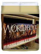 The World In The Library - Encyclopedias Duvet Cover
