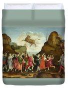 The Worship Of The Egyptian Bull God Apis Duvet Cover