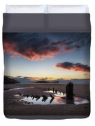 The Wreck Of The Helvetia And Worms Head Duvet Cover