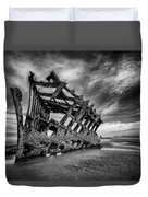 The Wreck Of The Peter Iredale Duvet Cover