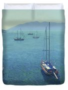 The Yachts Duvet Cover