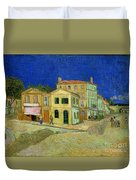 The Yellow House Duvet Cover by Vincent Van Gogh