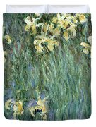 The Yellow Irises Duvet Cover
