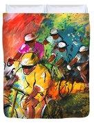 The Yellow River Of The Tour De France Duvet Cover