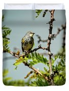 The  Yellow-rumped Warbler Duvet Cover