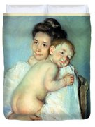The Young Mother Duvet Cover by Mary Stevenson Cassatt