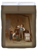 The Young Pipe Smoker Duvet Cover