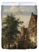 The Zuiderhavendijk, Enkhuizen, 1868 Duvet Cover