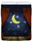 Theater Stage With Red Curtains And Night Background  Duvet Cover by Setsiri Silapasuwanchai